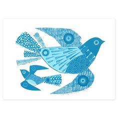 Serigrafía Unimaginatively Titled Bluebird de Jane Ormes en www.achica.es