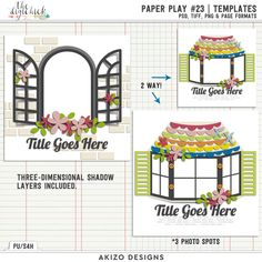 Paper Play 23 | Templates by Akizo Designs