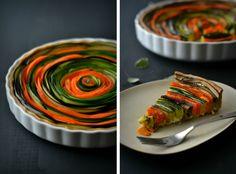 Sweet Gula: Spiral Vegetable Tart || Tarte Espiral de Legumes
