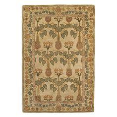Anatolia Blaize Wool Area Rug in Ivory/Soft Green