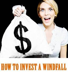 Money Girl 275: How to Invest a Windfall - Use this simple checklist so you know the right way to use extra cash!   Pin it now and Read or Listen later: http://moneygirl.quickanddirtytips.com/how-to-invest-windfall.aspx