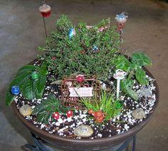 Miniature Fairy Garden Idea