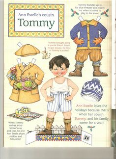Cousin Tommy Christmas* The International Paper Doll Society by Arielle Gabriel for all paper doll and paper toy lovers. Mattel, DIsney, Betsy McCall, etc. Join me at #ArtrA, #QuanYin5 Linked In QuanYin5 YouTube QuanYin5!