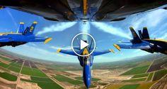 Imagens Impressionantes Mostram a Proximidade Dos Aviões Dos Blue Angels Durante a Formação