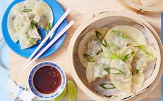 pork and gai lan dumplings