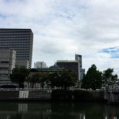 2016/08/25 くもり 土佐堀沿いからの眺め