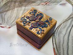 Купить Мини-шкатулка Махаон - шкатулка в подарок, шкатулка деревянная, шкатулка для украшений, шкатулка филигрань