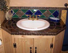 Bathroom Vanity Cabinet With Undermount Sink And Ceramic Vanity Countertops Vanity Countertop, Bathroom Vanity Cabinets, Countertops, Ceramic Tile Art, Tile Installation, Undermount Sink, Tile Design, Wall Tiles, Ceramics
