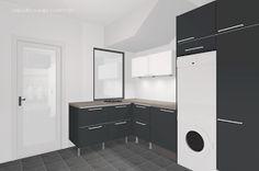 Kodinhoitohuoneen kaapistot on suunniteltu. Oven väri on vielä mietinnän alla, itse tykkäisin antrasiitin harmaasta. Todennäköisesti ovi tul...