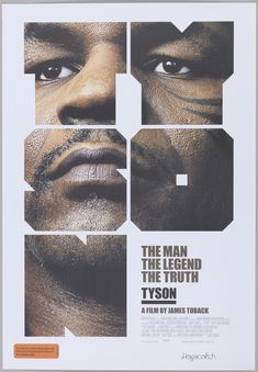 Poster / Mark Gowing, Tyson (A great way to use a Photoshop clipping mask) Cool Poster Designs, Creative Poster Design, Poster Design Inspiration, Design Poster, Creative Posters, Typography Inspiration, Cool Posters, Poster Layout, Movie Posters
