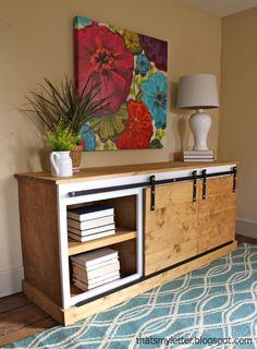 Sliding Door Console Table {Tutorial} - East Coast Creative Blog