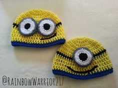 The minions from Despicable Me are some great characters! They are getting their own movie in 2015 so I decided to create a pattern so that I could wear them on my head! I also have a few friends t...