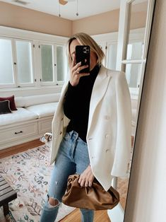 Damsel in Dior Work Wardrobe, Capsule Wardrobe, Casual Outfits, Fashion Outfits, Woman Outfits, Office Outfits, Womens Fashion, Ralph Lauren Blazer, Dior