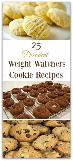 These 25 Decadent Weight Watchers Cookie Recipes mean you dont have to miss out on dessert while losing weight with Weight Watchers! I dont know about you but I crave a little something sweet at the end of the day. These delicious easy recipes are perf Weight Watcher Desserts, Weight Watcher Cookies, Weight Watcher Dinners, Weight Watchers Diet, No Calorie Foods, Low Calorie Recipes, Weightwatchers Recipes, Weight Watchers Recipes With Smartpoints, Low Carb Dessert