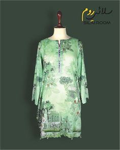 Shirt with Digital Print Full sleeves Fabric: Lawn Full Sleeves, Lawn, Digital Prints, Tunic Tops, Fabric, Summer, Shirts, Collection, Color