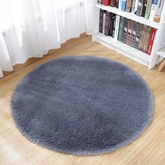 Fox Cherry Flower Non Slip Doormat 23.6 Round Area Rug Carpets Rugs for Kids Bedroom Baby Room Play Room Nursery