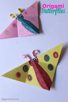 Vlinders vouwen met kleuters / Butterflies Kids Craft