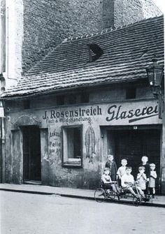 Ulica Kościelna około roku 1930. Pranks, Pisces