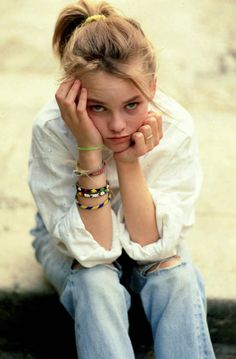 A young Vanessa Paradis...her attire screams 90s to me!