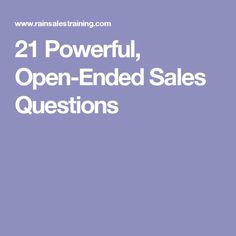 21 powerful open ended sales questions - Open Ended Cover Letter
