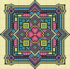 mattie free cross stitch chart by taniagwg Biscornu Cross Stitch, Free Cross Stitch Charts, Counted Cross Stitch Patterns, Cross Stitch Designs, Cross Stitch Embroidery, Embroidery Patterns, Modele Pixel Art, Perler Patterns, Tapestry Crochet