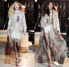 Wunderkind 2014 Spring Summer Womens Runway Collection - Paris Fashion Week - Mode à Paris - Old West Fringes Denim Jeans Motorcycle Biker J...