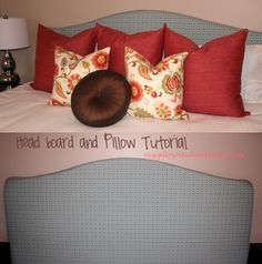 Upholstered headboard and invisible zipper tutorial- king size