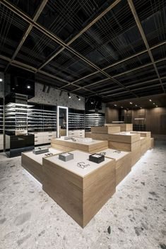 View the full picture gallery of SPEX Optic Store Eilat, Glass Store, Eyewear Shop, Optical Shop, Lighting Showroom, Fashion Showroom, False Ceiling Design, Museum Shop, Exhibition Display