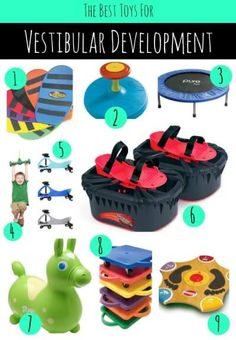 The vestibular system is is one of the foundations for healthy sensory processing. Check out some great toys for vestibular development.