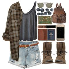 Woods. by skinx on Polyvore featuring polyvore, fashion, style, American Vintage, Klub Nico, Forever 21, Han Kjøbenhavn, Lord & Berry and TOMS