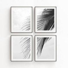 Tropical Print | Palm Leaf Print | Wall Art Print Sets | Tropical Decor