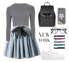 """""""Dress to impress"""" by taniapauleen on Polyvore featuring NIKE, Miu Miu, Glamorous, Kate Spade and Accessorize"""