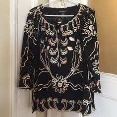FINAL PRICE DROP 🌠Embroidered top Unique embroidered top . Wide sleeves. Pale Rose gold . Once Again  Tops