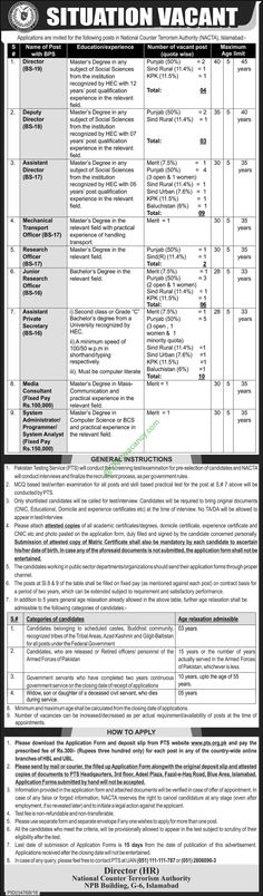 FATA Secretariat Peshawar Jobs 2017 NTS Application Form Download - on the job training form