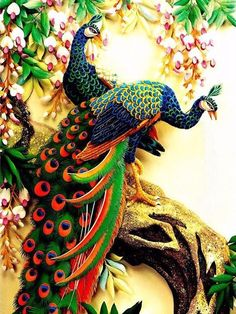 Cheap diamond embroidery, Buy Quality diamond embroidery peacock directly from China diamond painting Suppliers: Diamond embroidery Peacock Rhinestone Pasted DIY diamond painting cross-stitch Animal diamond mosaic Room Decor 32 x Peacock Painting, Diy Painting, Watercolor Peacock, Peacock Drawing, Peacock Artwork, Wreath Watercolor, Wolf Tattoos, Finger Tattoos, Chinese Painting