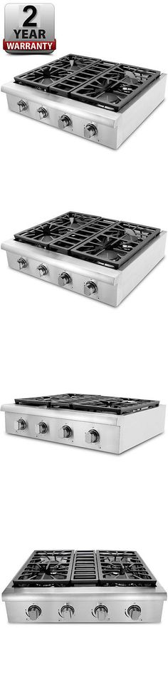 ranges and stoves thor kitchen 30 stainless prostyle hrt3003u gas rangetop cooktop