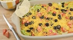 Skinny Taco Dip Recipe - Low Fat Tortilla Dip | Radacutlery.Com -- Watch Rada Cutlery create this delicious recipe at http://myrecipepicks.com/26585/RadaCutlery/skinny-taco-dip-recipe-low-fat-tortilla-dip-radacutlery-com/
