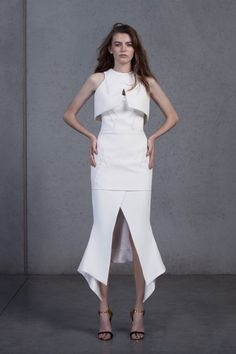 Maticevski Resort 2016…That little cropped top and the proportions are divine.