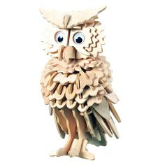 Wooden Puzzle - Owl -Affordable Gift for your Little One! Item by 3d Puzzles, Wooden Puzzles, Creative Notebooks, Wood Owls, Owl Crafts, Scroll Saw Patterns, Wood Creations, White Elephant Gifts, Wood Art