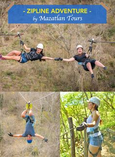 Fly through and over the treetops of rural Sinaloa, on a series of 12 thrilling zip lines, some over 900 feet long and 350 feet high off the ground! - Mazatlan Zipline Adventure by Mazatlan Tour - Canopy and fun times!