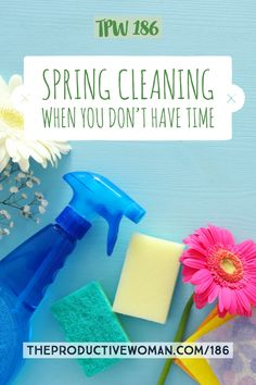 Got the spring cleaning bug but little time to get it done? Some tips for fitting it into your schedule--if you want to!--in episode 186 of The Productive Woman podcast. Find more info at TheProductiveWoman.com/186