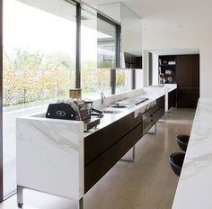 kitchen with a view! by Robert MillsArchitects