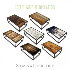 Sims4Luxury: Industrial Chic Living Coffee Table Recolor • Sims 4 Downloads