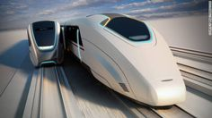British transport designers Priestmangoode have revealed a concept for high-speed trains that would allow passengers to transfer from one connection to another while they are in motion, negating the need to stop at a station. Transport Futur, Design Transport, Public Transport, Rail Transport, Future Transportation, Transportation Engineering, High Speed Rail, Trains, Speed Training