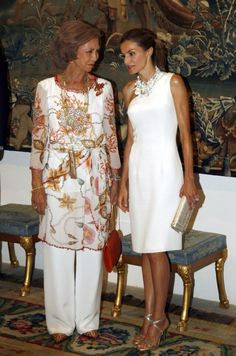 Queen Sofia and Queen Letizia