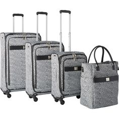 anne klein rochester 4piece expandable spinner luggage set - London Fog Luggage
