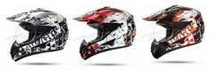 GS War Rot Crosshelm mit Visier für Quad ATV Enduro Motorradhelm ECE 2205 Größe: M 57-58cm