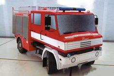 CAS 24 Praga Golden Fire Engine Free Vehicle Paper Model Download…