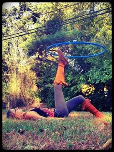 that looks like bliss...cannot wait for springtime and some outdoor hooping :)