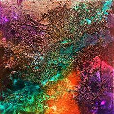 """opera astratta, titolo """"Frammenti"""" sabbia, colori acrilici"""